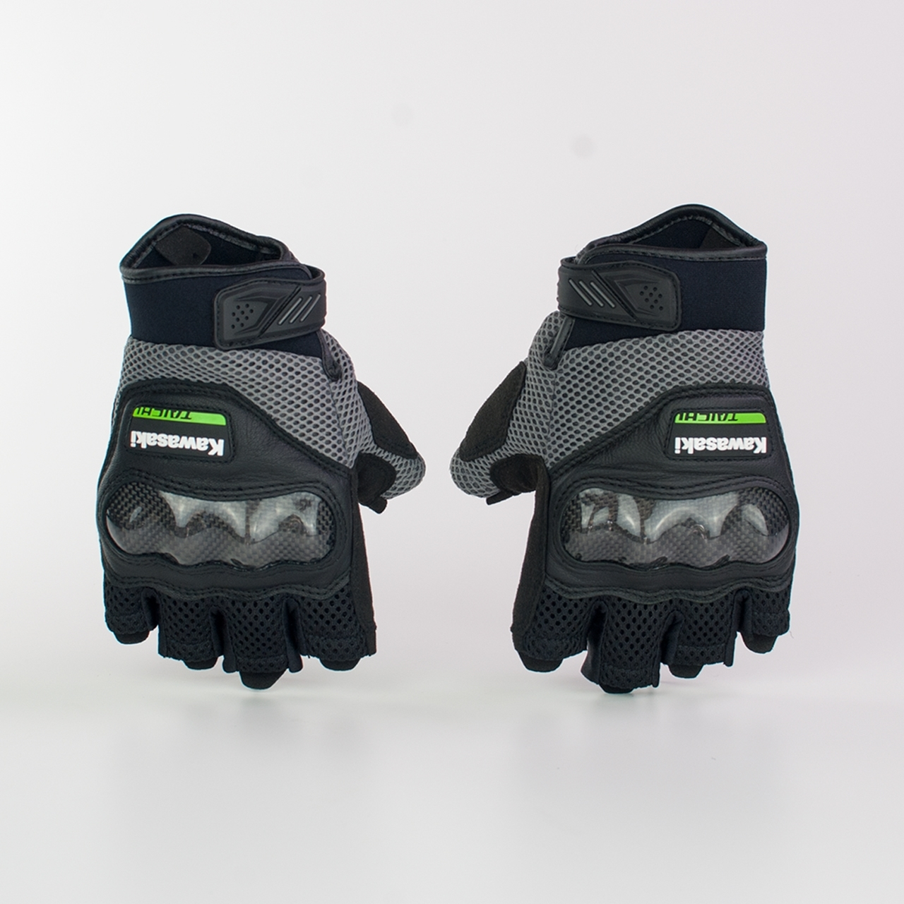 MESH PROTECTION  HALF FINGER GLOVE GRY