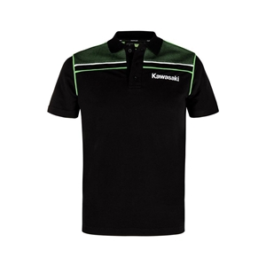 SPORTS POLO SHORT SLEEVES (Black / Lime Green)