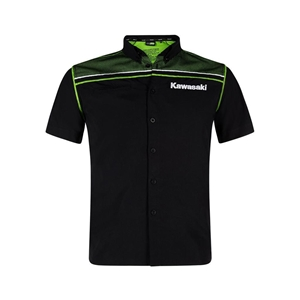 SPORTS SHIRT SHORT SLEEVE (Black / Lime Green)