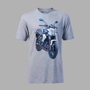 T-SHIRT KAWASAKI BLUE-ER6n L-GREY